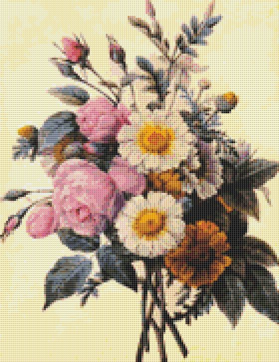 Flowers  Counted Cross Stitch CHART REDOU04 by TheArtofCrossStitch, $8.99