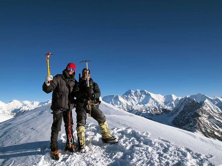 Mera Peak is the highest trekking peak suitable for anyone with little or no previous experience of using an ice axe and crampons.