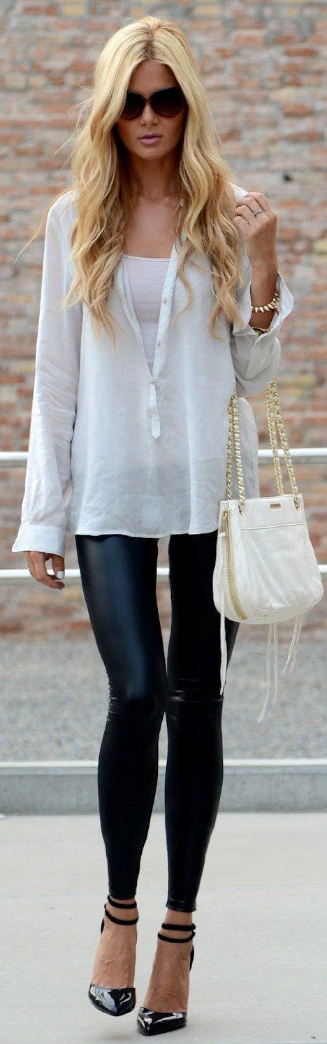 Leather Leggings. | Style | Pinterest | Pants Legs and Heels