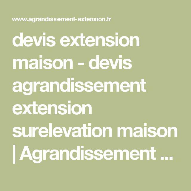 devis extension maison devis extension maison u extension with cout pour surelever une maison - Prix Pour Surelever Une Maison