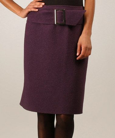 Look at this #zulilyfind! Prune Jardin Wool Skirt by Eva Tralala, $47 !!  #zulilyfinds