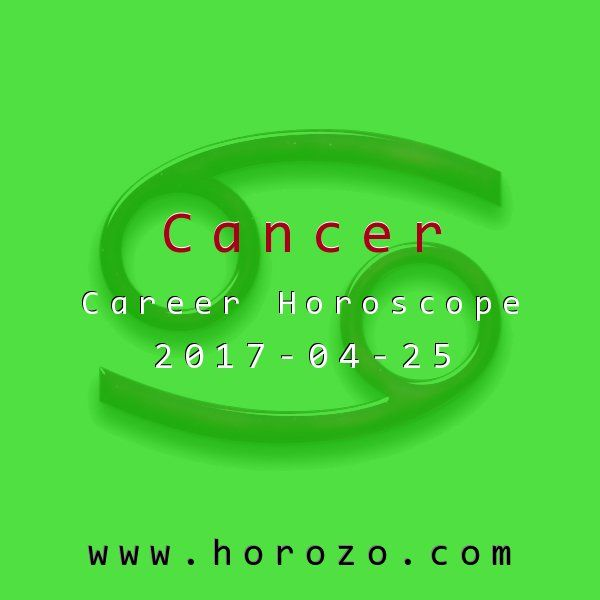 Cancer Career horoscope for 2017-04-25: Your passionate opinions may be met with blank stares at the office tomorrow. Instead of feeling crushed, present your case in a more measured, intellectual frame. Your coworkers are more apt to relate to matters of the mind..cancer
