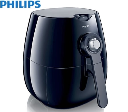 Philips Low Fat Air Fryer with Rapid Air Technology - Black