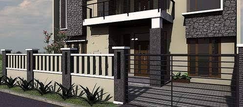 Hasil gambar untuk desain pagar rumah minimalis