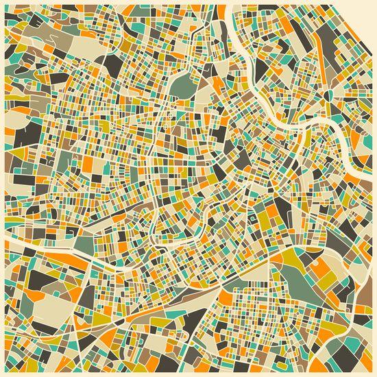 Vienna map art print jazzberry blue pinterest vienna for Grafik design praktikum wien