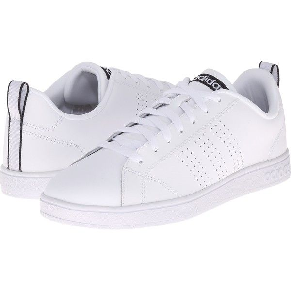 adidas Advantage Clean VL (White/White/Black) Women\u0027s Lace up casual.
