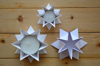 Kerzenhalter in Sternform falten #1 | fadenspiel und fingerwerk  http://fadenspielundfingerwerk.de/2012/10/31/kerzenhalter-in-sternform-falten-1/