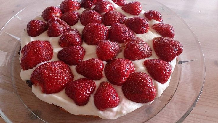 Hjemmelavet jordbær tærte