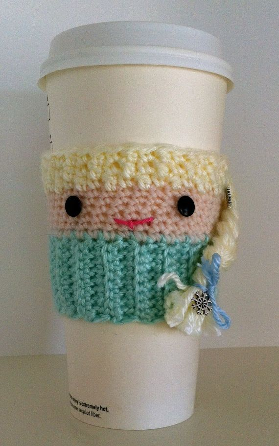 Elsa Inspired Cup Cozy Frozen Inspired Cup Cozy by InChains, $14.00