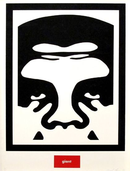 Frank shepard fairey obey giant evolved from his andre the giant has a possee sticker campaign while at the risd in