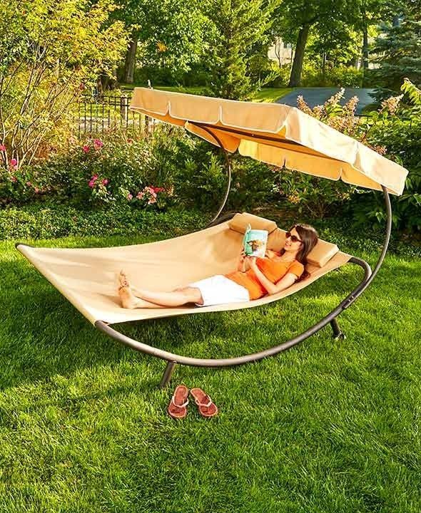 Outdoor Day Bed Sun Lounger Canopy Double Spacious Comfortable Poolside or Patio #outdoordaybed #poolside #beachlounge #loungechair