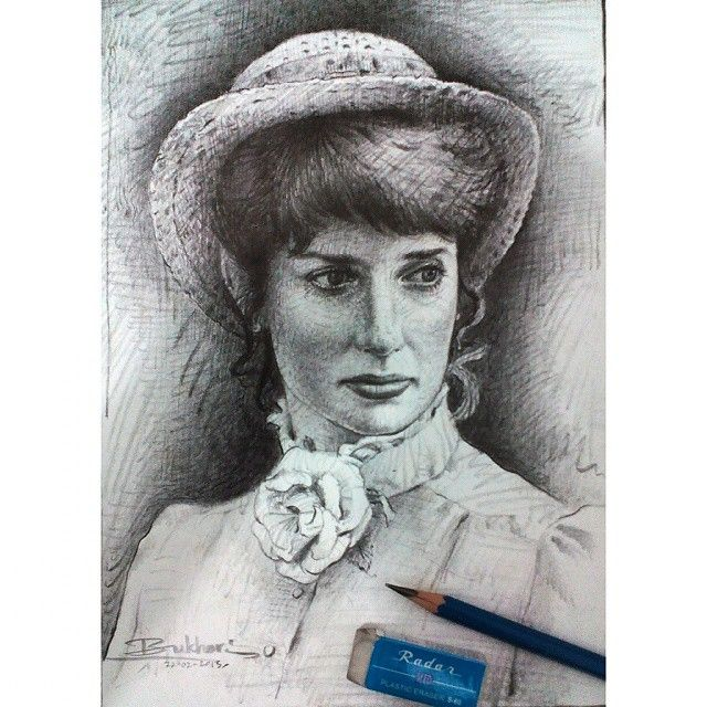 Lady Diana, potrait drawing