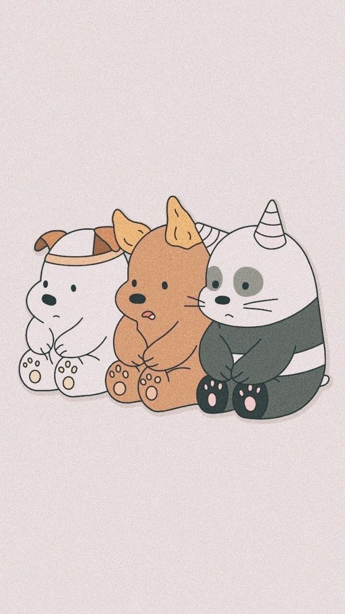 الدببه الثلاثه Cute Cartoon Wallpapers Bear Wallpaper We Bare Bears Wallpapers