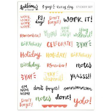 Planner Stickers – Hand Lettered Words