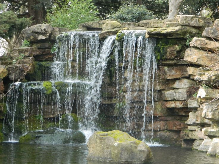 Stack Stone Backyard Waterfall Outdoor Living Pond