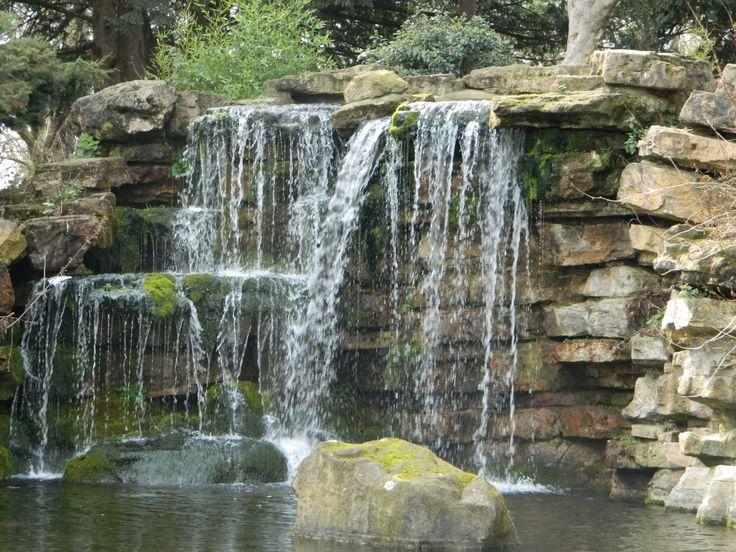 Stack stone backyard Waterfall | Outdoor living