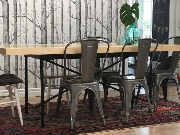 Tolix chair diy dinner table