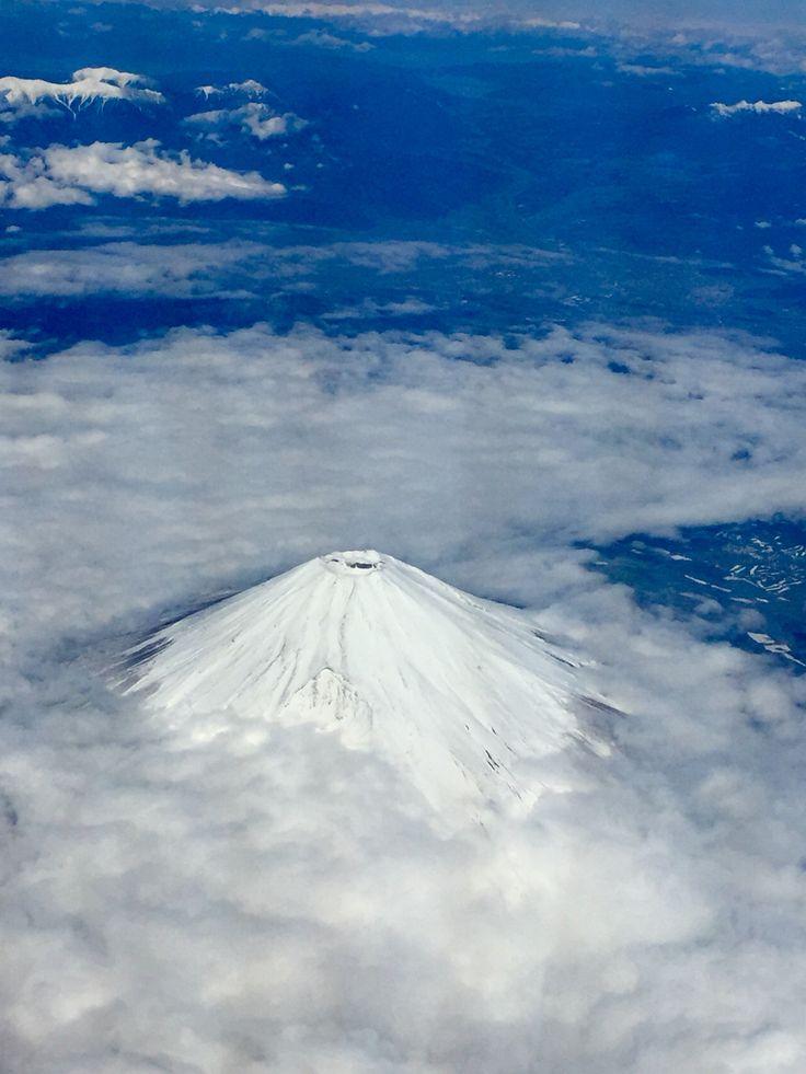 Mt. Fuji, on board view