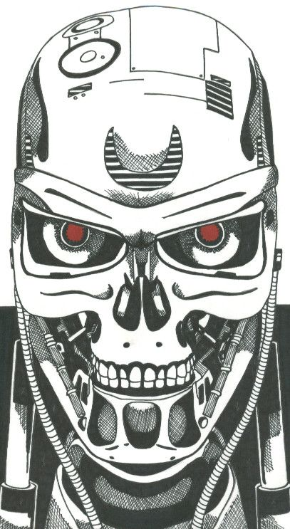 terminator coloring pages - 77 best images about terminator on pinterest