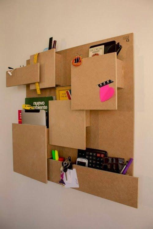 Organiza tu oficina de manera práctica y sencilla. Un accesorio minimalista y que tú mismo puedes crear, ¿te gusta?