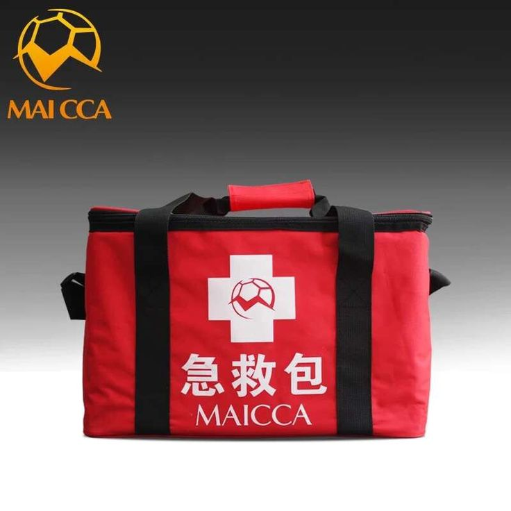 MAICCA Soccer Safety bag for doctor red Outdoor camping and hiking Medical Survival bags Football training first-aid kits bag