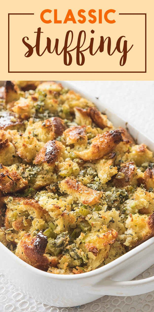 How To Make The Perfect Classic Stuffing For Thanksgiving add mushrooms. Only use half of an onion, and it is totally cool if you accidentally use thyme instead of sage!