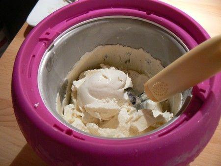 Glace au yaourt à la vanille
