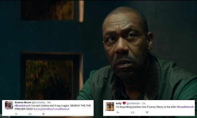 Lenny Henry's character is arrested in Broadchurch