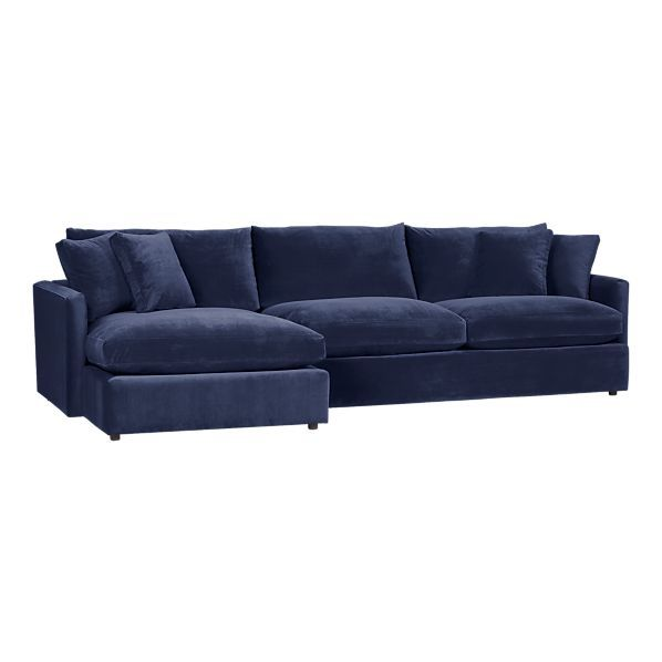 Crate Barrel Navy Blue Microsuede