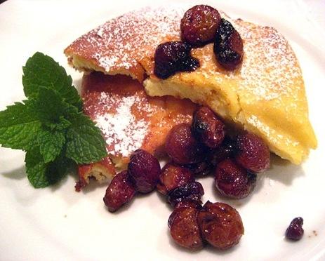 Ricotta Pudding Cake w/ Roasted Grapes | Cakes | Pinterest