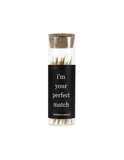 You're My Perfect Match - Glass Vial Matches from DAMSELFLY
