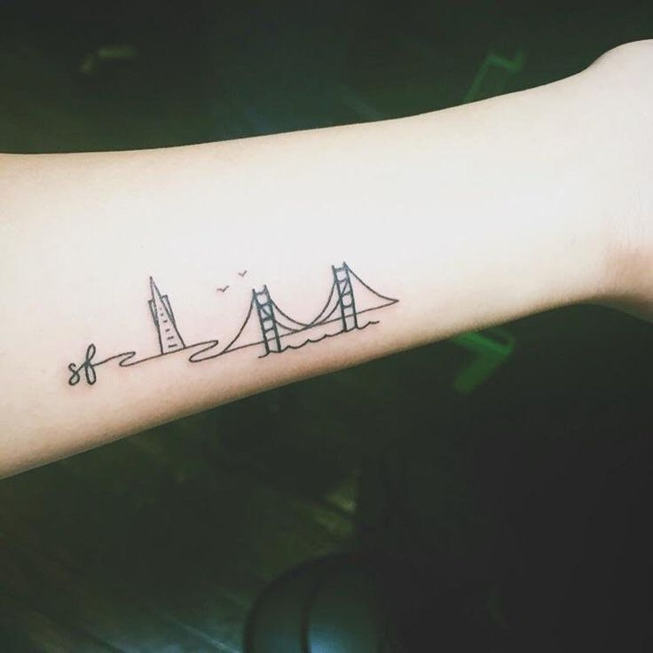 Sf Skyline By Amanda At Mission Ink San Francisco Ca Minimalist Tattoo Small Tattoos Tattoos