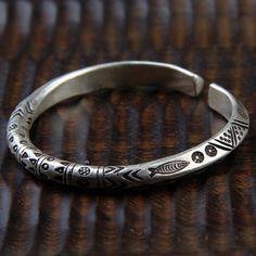Fine Silver Handmade Bold Cuff Bracelet