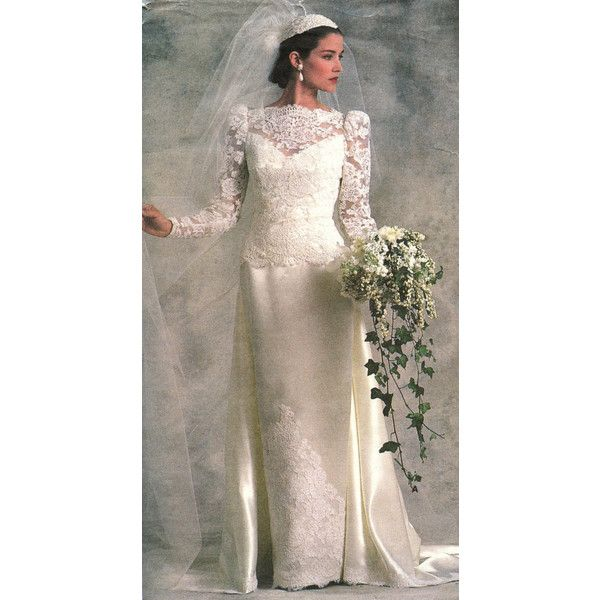 1980s Vogue Bridal Original 1829 Misses Bridal or Bridesmaid Gown... ($7.73) ❤ liked on Polyvore featuring dresses, gowns, patterned bridesmaid dresses, print dress, brown bridesmaid dresses, brown gown and brides dresses