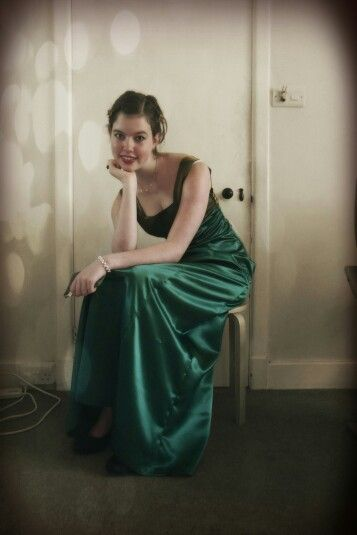 This is my prom dress. Which I made myself. No shortage of hard work whent into this!