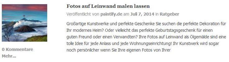 Neue Referenzen auf unserer Webseite!  Sehen Sie was unsere Künstler können:  https://www.paintify.de/de/referenzen  #Fotos_auf_Leinwand #Fotos #Leinwand #Gemälde #Ölgemälde #Referenzen #paintify