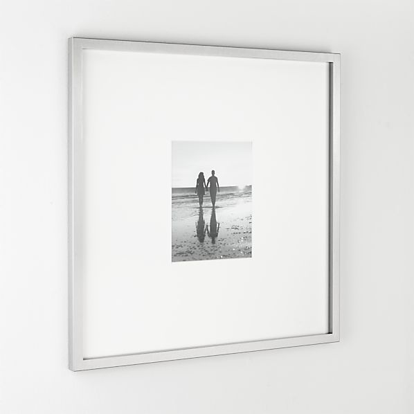 Brushed Silver 8x10 Gallery Frame  | Crate and Barrel