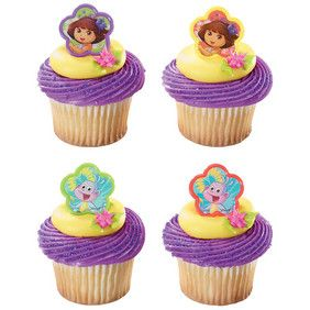 Dora the Explorer Springtime Friends Cupcake Rings