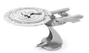 Boldy go to a galaxy far, far away with Star Trek and Star Wars 3D Laser Cut Models. This one is Metal Earth 3D Model of Star Trek USS Enterprise NCC -1701