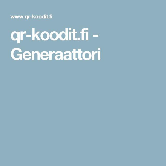 qr-koodit.fi - Generaattori