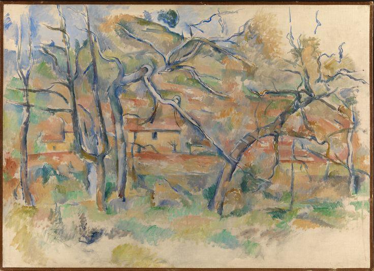 Paul Cézanne (1839-1906) Arbres et Maisons c. 1885. Oil on canvas. 59 x 81,5 cm. Nasjonalmuseet, Oslo. 01291.