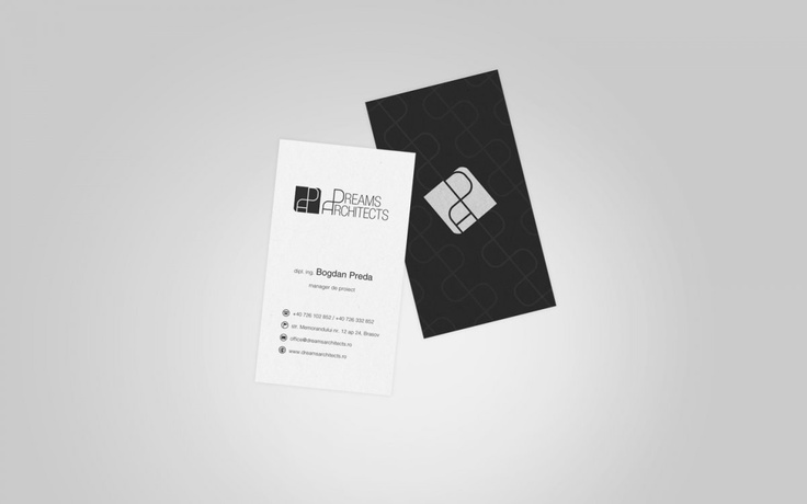 Dreams Architects (business card front & back)