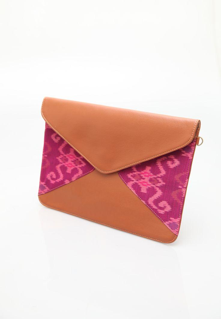 Manikan Ikat Envelope Bag, Clutch Daylight