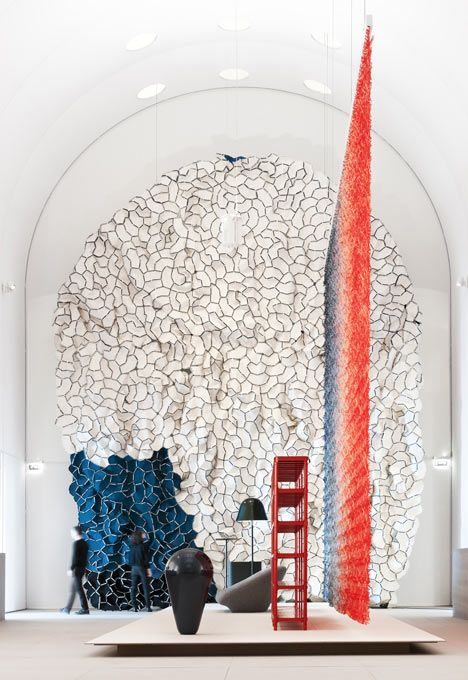 an exhibition showcasing years of design by ronan and erwan bouroullec has opened at les