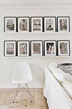 SOLID WOOD Photo Frame Set White - 7 Picture Frames with Mounts - Frame Width 2cm: Amazon.co.uk: Kitchen & Home