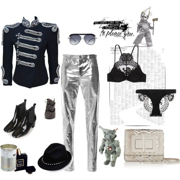 Tin Girl 💙 by juliabachmann on Polyvore featuring Balmain, Isabel Marant, La Perla, Topshop, Tom Ford, Eddie Borgo, Valentino, Roland Mouret, Chanel and Spineless Classics