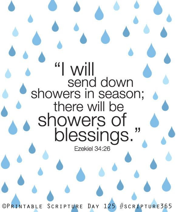 Ezekiel 3426 Showers Of Blessing 8x10 DIY Printable