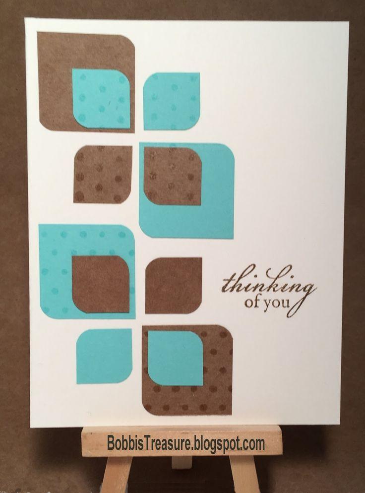 Bobbi's Treasure: Thinking of You geometric card