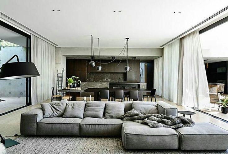 @Regrann from @deloudis_ -  LIVING DIVANI 'Extra Soft' Sofa designed by Piero Lissoni | FLOS Lightin - visual.stimulation_