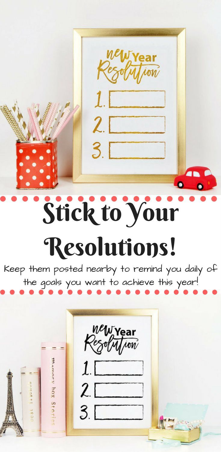 Nice New Year's Resolution printable. This is a great way to stick to your resolutions by keeping them insight! Would be a super fun project for a kids room. #NewYearsResolution #NewYears #ad
